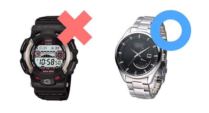 面接にふさわしい腕時計