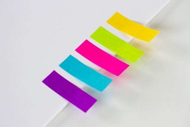 付箋を色で使う